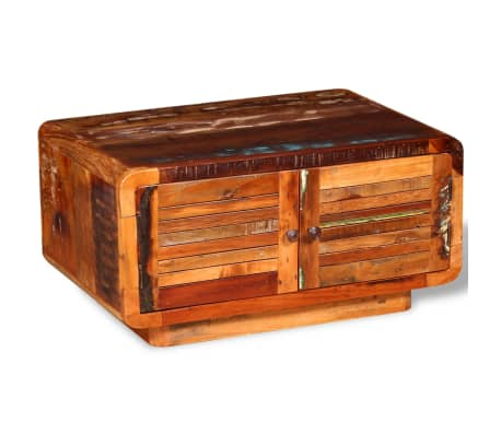 Vidaxl Couchtisch Recyceltes Holz 80 X 50 X 40 Cm Günstig Kaufen