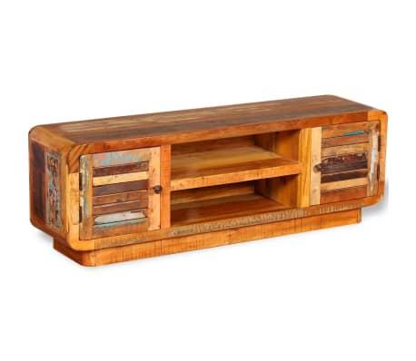 vidaXL TV stolík z masívneho recyklovaného dreva, 120x30x40 cm[1/9]