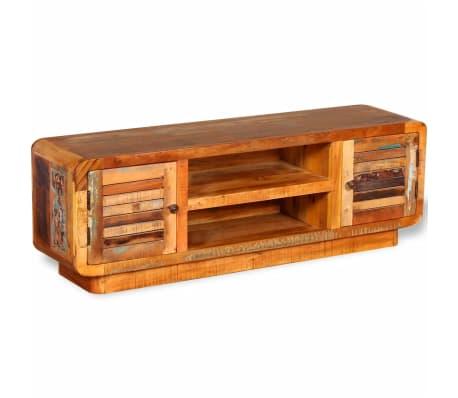 vidaXL TV stolík z masívneho recyklovaného dreva, 120x30x40 cm[3/9]