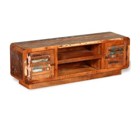 vidaXL TV stolík z masívneho recyklovaného dreva, 120x30x40 cm[4/9]