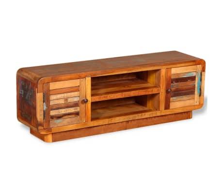 vidaXL TV stolík z masívneho recyklovaného dreva, 120x30x40 cm[5/9]