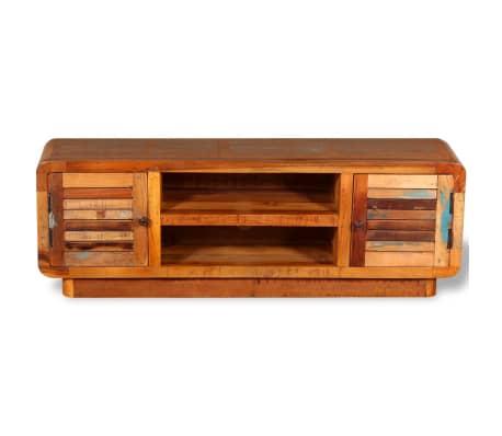vidaXL TV stolík z masívneho recyklovaného dreva, 120x30x40 cm[7/9]