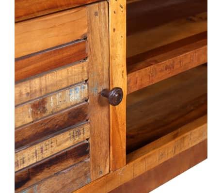 vidaXL TV staliukas, masyvi perdirbta mediena 120x30x40 cm[8/9]