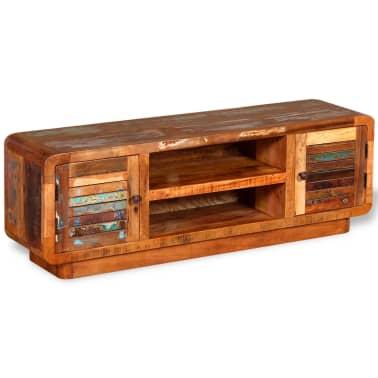 vidaXL TV stolík z masívneho recyklovaného dreva, 120x30x40 cm[2/9]