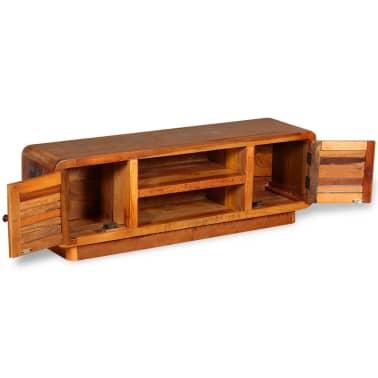 vidaXL TV stolík z masívneho recyklovaného dreva, 120x30x40 cm[6/9]