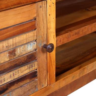 vidaXL TV stolík z masívneho recyklovaného dreva, 120x30x40 cm[8/9]