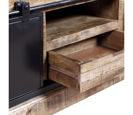 vidaXL TV staliukas su 2 durelėmis, mango mediena, 110x30x45 cm[9/10]