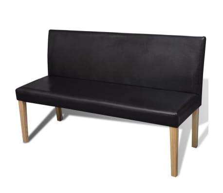 vidaXL Sofa Bench Artificial Leather Dark Brown[1/4]