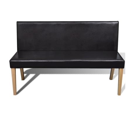 vidaXL Sofa Bench Artificial Leather Dark Brown[2/4]