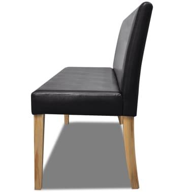 vidaXL Sofa Bench Artificial Leather Dark Brown[3/4]