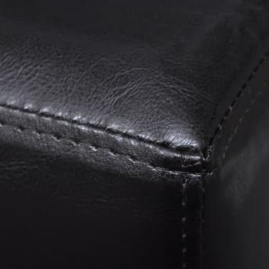 vidaXL Sofa Bench Artificial Leather Dark Brown[4/4]