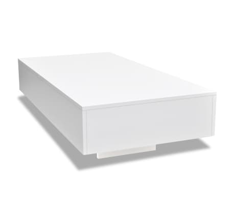 vidaXL Table basse Haute brillance Blanc[2/5]