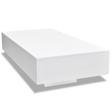 vidaXL Coffee Table High Gloss White[2/5]