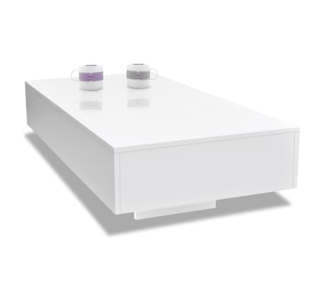 vidaXL Table basse Haute brillance Blanc[3/5]