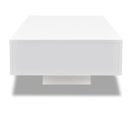 vidaXL Coffee Table High Gloss White[3/5]