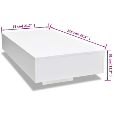 vidaXL Coffee Table High Gloss White[5/5]