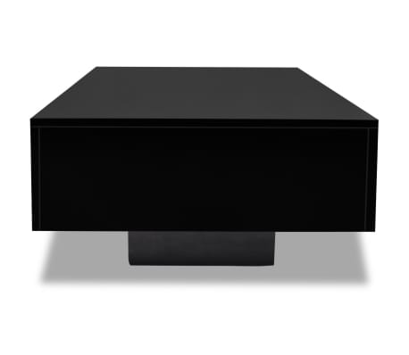 vidaXL Coffee Table High Gloss Black[4/5]
