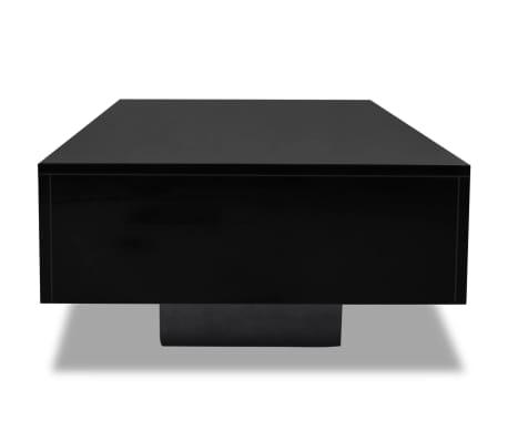 vidaXL Salontafel hoogglans zwart[3/4]