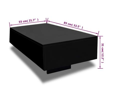 vidaXL Salontafel hoogglans zwart[4/4]