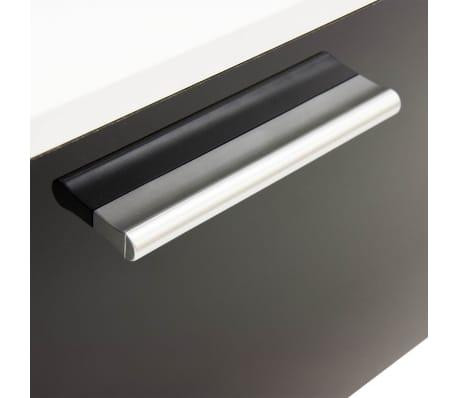 vidaxl siebenteilige wohnwand mit led hochglanz schwarz 250 cm g nstig kaufen. Black Bedroom Furniture Sets. Home Design Ideas