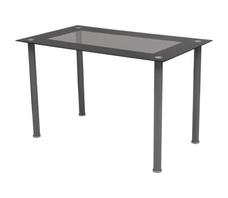 vidaXL Five Piece Dining Set Black[3/7]