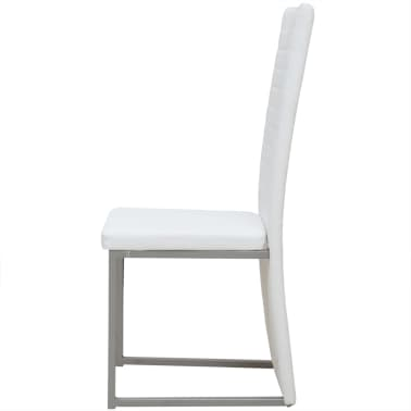 vidaXL Five Piece Dining Set White[6/7]