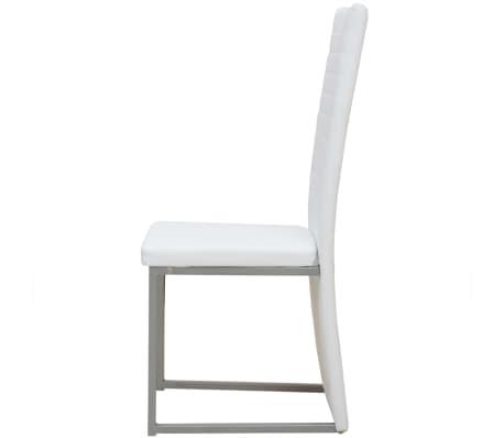 vidaXL Seven Piece Dining Set White[6/7]