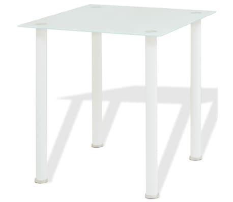 vidaXL Five Piece Dining Set White[2/7]
