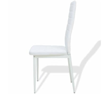 vidaXL Five Piece Dining Set White[5/7]