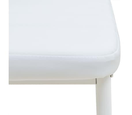 vidaXL Five Piece Dining Set White[7/7]