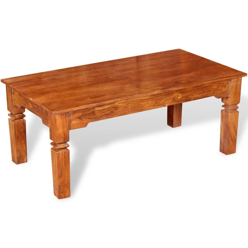 vidaXL Konferenční stolek, masivní dřevo 110x60x45 cm