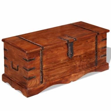 vidaXL Skrynia, daiktadėžė iš masyvios medienos[1/9]