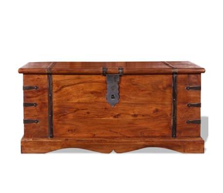 acheter vidaxl coffre de rangement bois massif pas cher. Black Bedroom Furniture Sets. Home Design Ideas