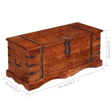 vidaXL Skrynia, daiktadėžė iš masyvios medienos[5/9]