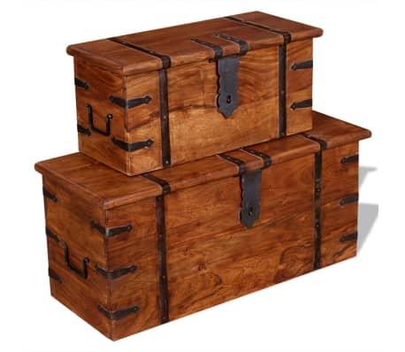 vidaXL 2 Piece Storage Chest Set Solid Wood[11/12]