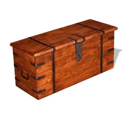 vidaXL 2 Piece Storage Chest Set Solid Wood[3/12]