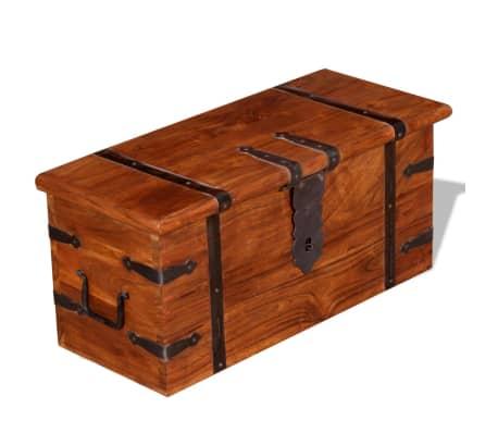 vidaXL 2 Piece Storage Chest Set Solid Wood[5/12]