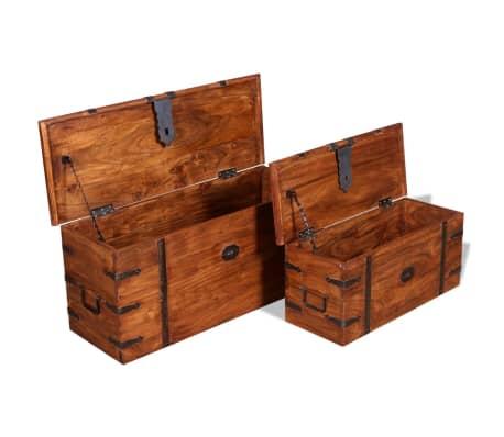 vidaXL 2 Piece Storage Chest Set Solid Wood[7/12]