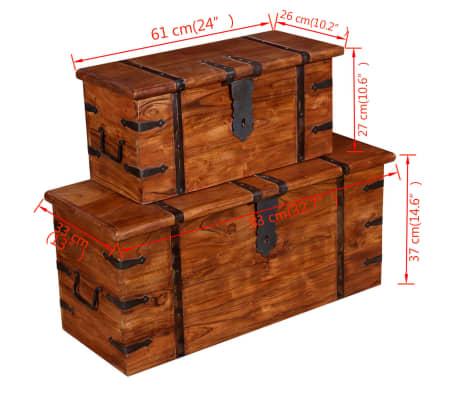 vidaXL 2 Piece Storage Chest Set Solid Wood[8/12]