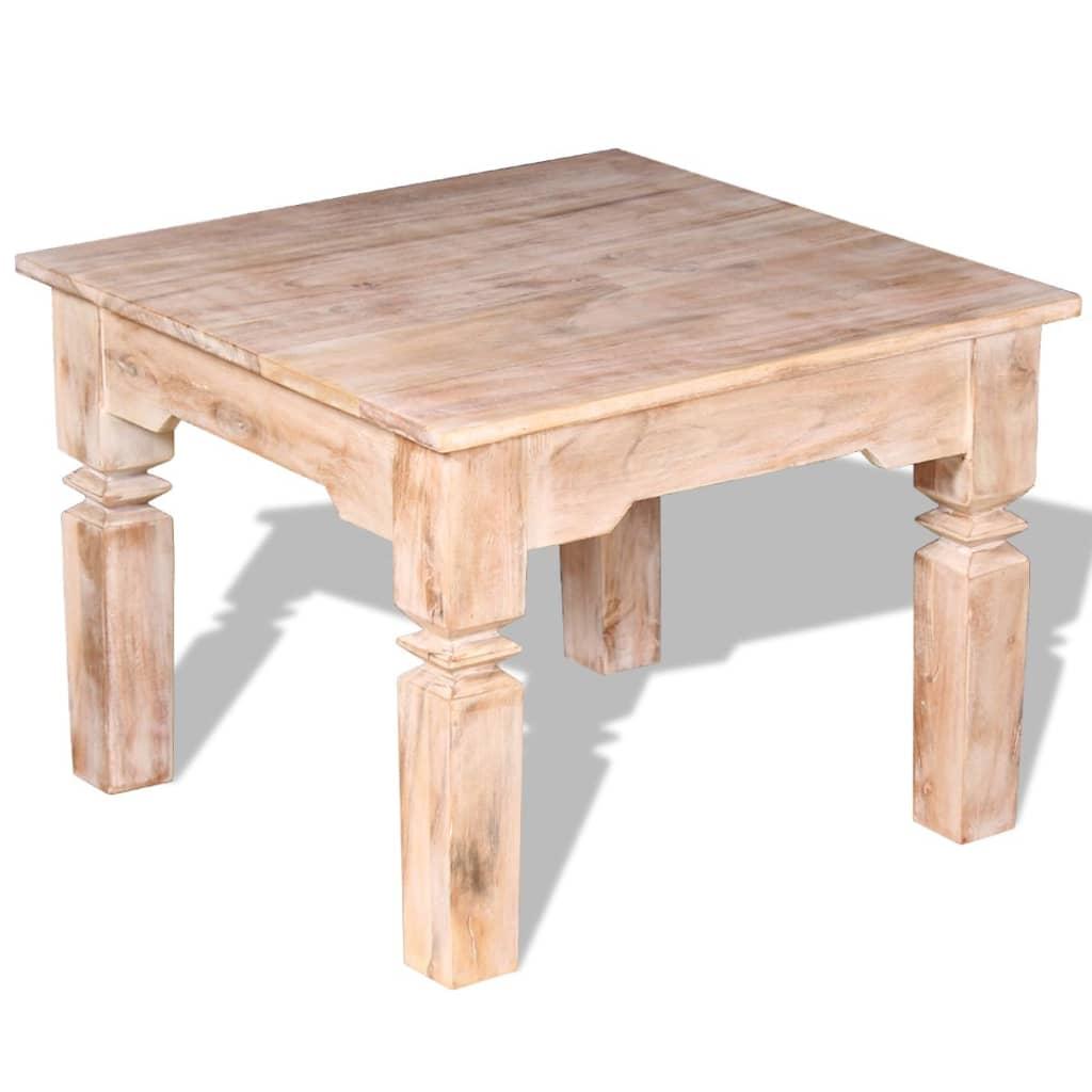 vidaXL Konferenční stolek, masivní akáciové dřevo 60x60x45 cm
