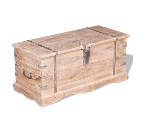 vidaXL Storage Chest Acacia Wood[3/9]