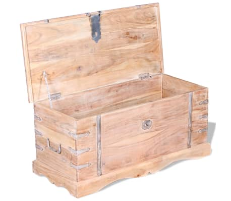 vidaXL Storage Chest Acacia Wood[7/9]