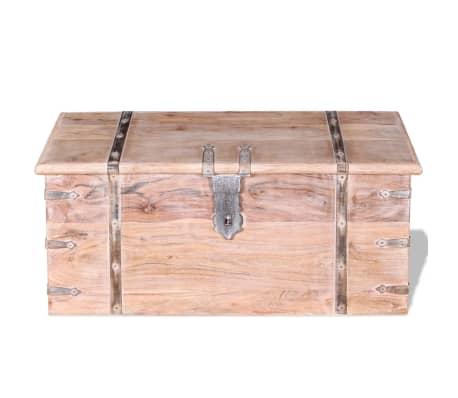 vidaXL Set de două cufere de depozitare din lemn de acacia[4/12]