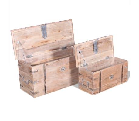 vidaXL Set de două cufere de depozitare din lemn de acacia[7/12]