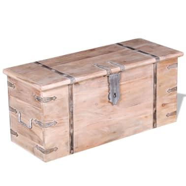 vidaXL Set de două cufere de depozitare din lemn de acacia[3/12]