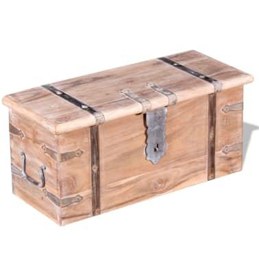 vidaXL Set de două cufere de depozitare din lemn de acacia[5/12]