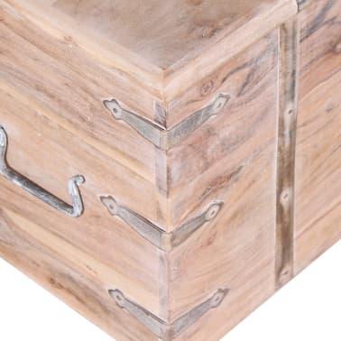 vidaXL Set de două cufere de depozitare din lemn de acacia[6/12]