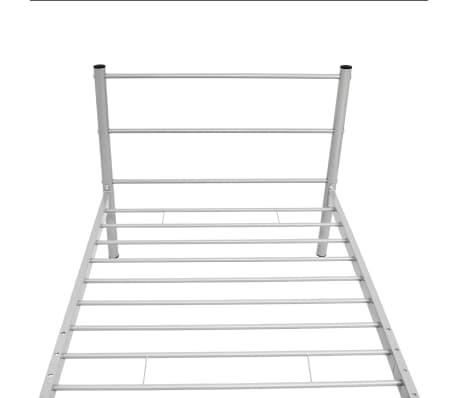vidaXL Posteľný rám, sivý, kov 90x200 cm[5/7]