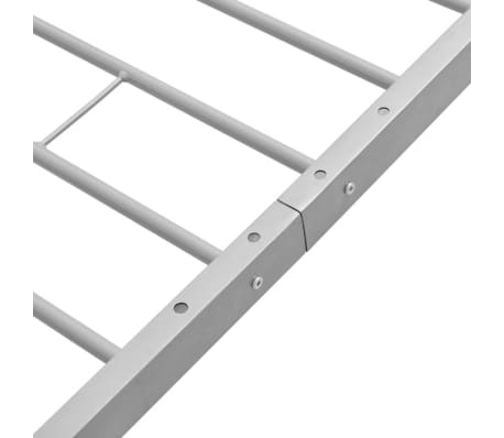vidaXL Metallinen sängynrunko Harmaa 90x200 cm[6/7]
