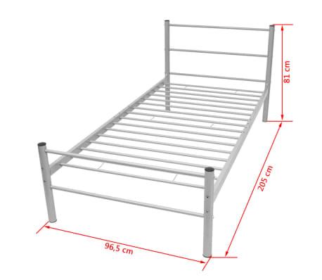 vidaXL Kovový rám postele, šedý, 90x200 cm[7/7]